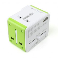 The Satechi Smart Travel Router / Travel Adapter with USB Port adapts to fit into four of the most common plug configurations used around the world and features four different modes for your wireless networking needs.
