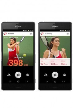 The Sony Smart Tennis Sensor feeds data via Bluetooth directly to Sony's Smart Tennis Sensor Android and iOS smartphone app.