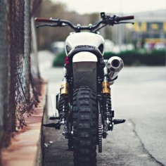 The Triumph Tramontana custom Scrambler by ... David and Felipe Lopez of Triumph!