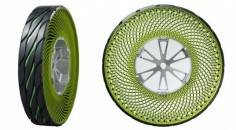 These airless tires are not only amazing and eco-friendly—they look kinda like kiwis.