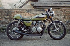 """This custom CB550 is one of those bikes that looks """"just right""""—with subtle mods that highlight the vintage charm of Honda's classic middleweight."""
