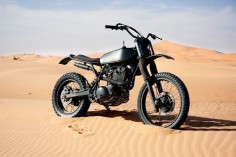 This custom Yamaha XT 600 was built to follow a Dutch rally team around Morocco.