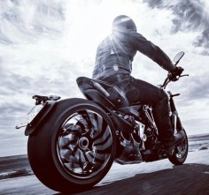 This Ducati Diavel reminds me Leo from Collision by  Sterritt