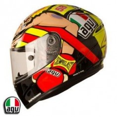 This is the Valentino Rossi 'Boxer' helmet that Rossi wore for the Misano 2012 MotoGP -