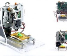 This project describes the design of a very low budget 3D Printer that is mainly built out of recycled electronic components. The result is a small
