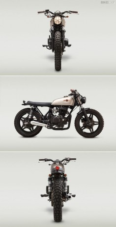 This rugged lil' Honda CB400T comes from the Richmond, VA-based builder Classified Moto. We dig, do you?