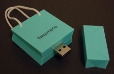 Tiffany bag USB flash drives
