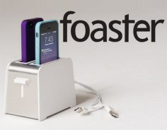 Toaster charger- phones pop up when fully charged ^.^
