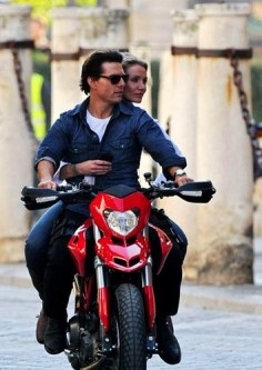 Tom Cruise and Cameron Diaz in Knight & Day.  The Ducati Hypermotard was absolutely the best part of the movie!