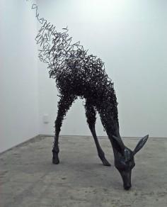 Tomohiro Inaba. Iron / wire sculpture.