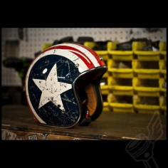 "Torc Route 66 T50 ""Rebel Star"" 3/4 Helmet (DOT Approved)."
