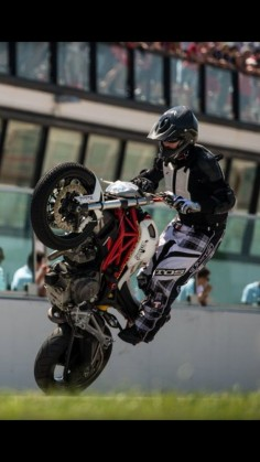 Tricksters on a Ducati Monster
