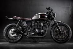 "Triumph Bonneville T100 Brat Style ""Steadfast"" by MaccoMotors #motorcycles #bratstyle #motos |"