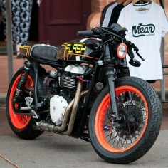 "Triumph Thruxton Cafe Racer ""Flash"" by Meanmachines #motorcycles #caferacer #motos 