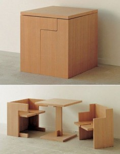 truebluemeandyou:    Japanese Table and Chairs in a Box.