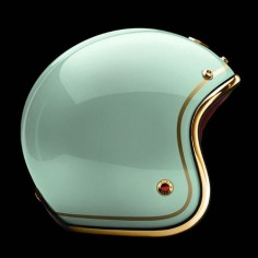 "Tuileries"" helmet from Ateliers Ruby, 2012 Pavillion Collection (+) The French company is pairing the carbon fiber helmets with a stunning selection of soft Nappa Lamb leather, with a finishing trim of chrome, brass, or gunmetal. Users have the option of customizing the finish of the shell with a pattern such as stripes, checks, or even polka dots. // honestillusions:airows"