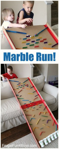 Turn a Cardboard Box into an Epic Marble Run