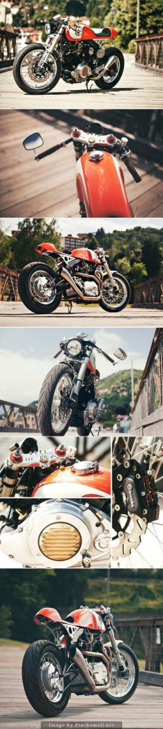 Ultra-clean custom Yamaha XV 750 by Christian Moretti of Plan B Motorcycles. Click to read more