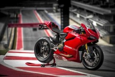 Under VW's ownership Ducati is having more success in the showroom than on the racetrack. Photo via Ducati.