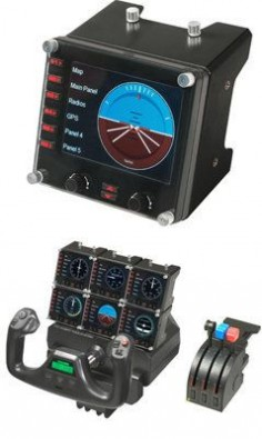 Upgrade your flight simulation experience for Microsoft Flight Simulator X with the Saitek Pro Flight Instrument Panel.