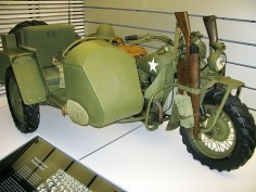 US Army WWII Harley-Davidson Motorcycle with sidecar