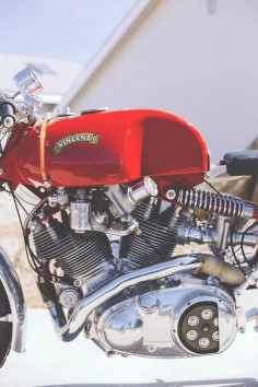 Vincent Cafe Racer #motorcycles #caferacer #motos |