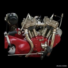 VINTAGE 1925 INDIAN SCOUT MOTORCYCLE ENGINE