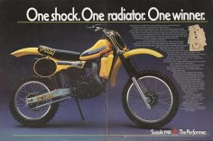 Vintage 1981 Suzuki RM125 Dirt Bike  Full Floater Suspension! One Shock. - One Radiator. - One Winner. Old Suzuki Motorcycles!