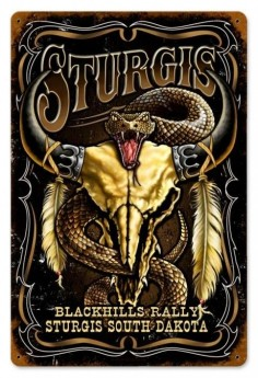 Vintage and Retro Wall Decor -  - Vintage Sturgis Metal Sign, $ ()