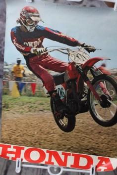 Vintage Honda Motocross Poster 1974 by VintageVanShop on Etsy, $