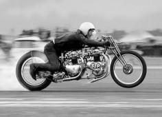 Vintage Motorcycle Drag Racing