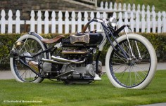Vintage Old School Henderson Motorcycle by Billy Lane Choppers Inc