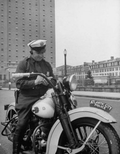 Vintage police Motorcycle