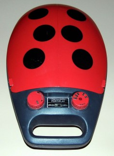 "Vintage Realistic Transistor Portiplay Phonograph Radio, ""Ladybug"" Design, Model 13-1163, AM Band, AC Or Battery Operation, Made In Taiwan, Circa 1985."