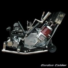 ◆ Visit MACHINE Shop Café ◆ (No. 108 ~ VINTAGE SCOTT 600cc MOTORCYCLE ENGINE, by Gordon Calder, via Flickr, 3,000,000 Views!)