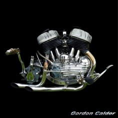◆ Visit ~ MACHINE Shop Café ◆ (No. 111 ~ CLASSIC HARLEY DAVIDSON FLATHEAD V-TWIN ENGINE, by Gordon Calder, via Flickr, 3,000,000 Views!)