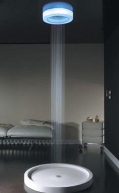 Você gostaria de ser o banho em um chuveiro de luz LED no futuro? A idéia de Visentin é um chuveiro de luxo que banha-lo em um arco-íris de luzes LED coloridas terapêuticas, como laranja, renovando azul, branco relaxar, curando verde rosa ou refrescante, cada um com suas qualidades terapêuticas, transformando o seu banho em uma espécie de um spa em casa.