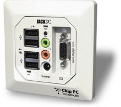 Wall Socket PC. Coming soon to a newly built hospital near