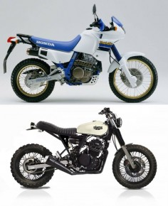 Weg mit dem Plastik - Honda Dominator transformation. Imagination and creativity should never be underestimated.