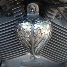 We're loving this gift idea for motorcycles - Angel Heart Wings horn cover.
