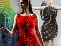 When tech and fashion collide—Boston MFA showcases 3D-printed fashions, laser-cut clothing and dresses sporting solar panels and LED lights in its exhibit—High-tech fashion goes far beyond the wrist; Details>