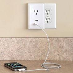 Winner of a Best Innovations Award at the Consumer Electronics Show, these are plug in AC wall outlets with two built-in USB ports. GREAT idea.
