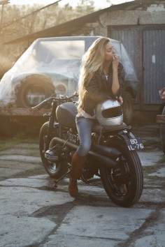 #Woman ride #motorcycle #EatSleepRIDE