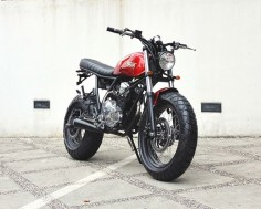 "#Yamaha Scorpio ""The Red Tracker"" by Studio Motor"