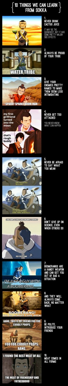 10 Things We Can Learn From Sokka. haha so true XD