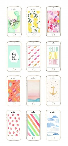 12 Awesome iPhone Wallpaper Designs from @Cyd Converse | The Sweetest Occasion