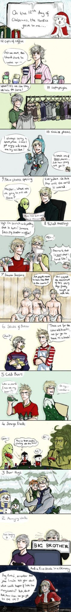 12 Days of Nordic by maivalkov on DeviantArt //does it make you late if you in a different time zone