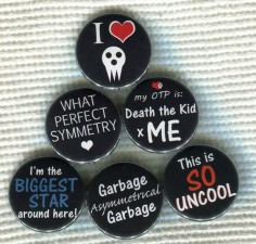 Soul Eater anime quote Pinback Button by TinyAltoButtons, $