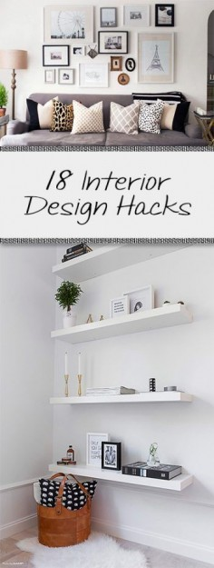 18 Interior Design Hacks