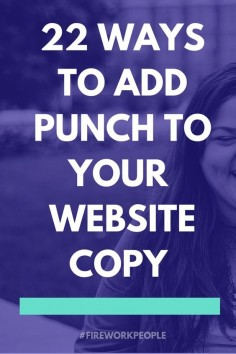 22 ways to add punch to your website copy